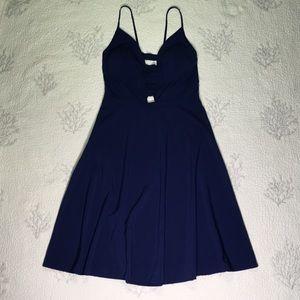 Dresses & Skirts - Pretty blue spaghetti string dress with zipper